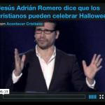 Video: Jesús Adrián Romero dice que los cristianos pueden celebrar Halloween