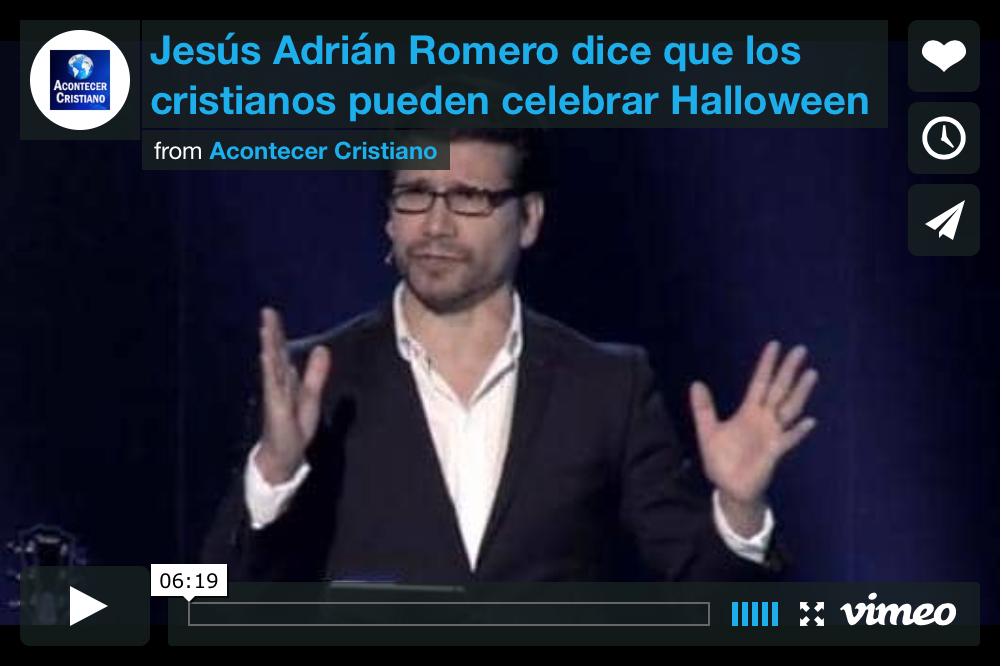 jesus adrián romero y halloween