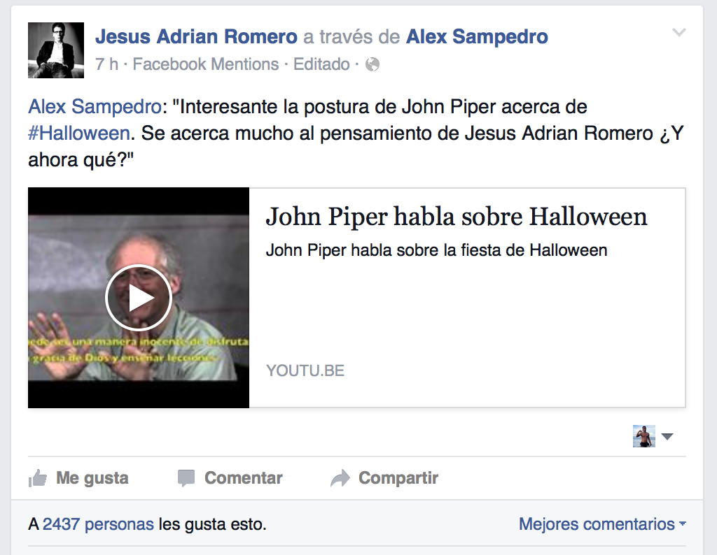Jesus Adrian Romero - John Piper - Halloween