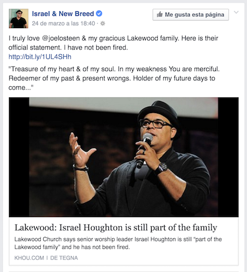 Israel Houghton Lakewood