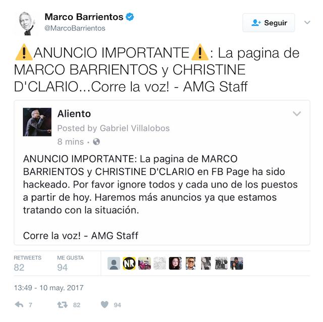 Marco Barrientos Hackeado