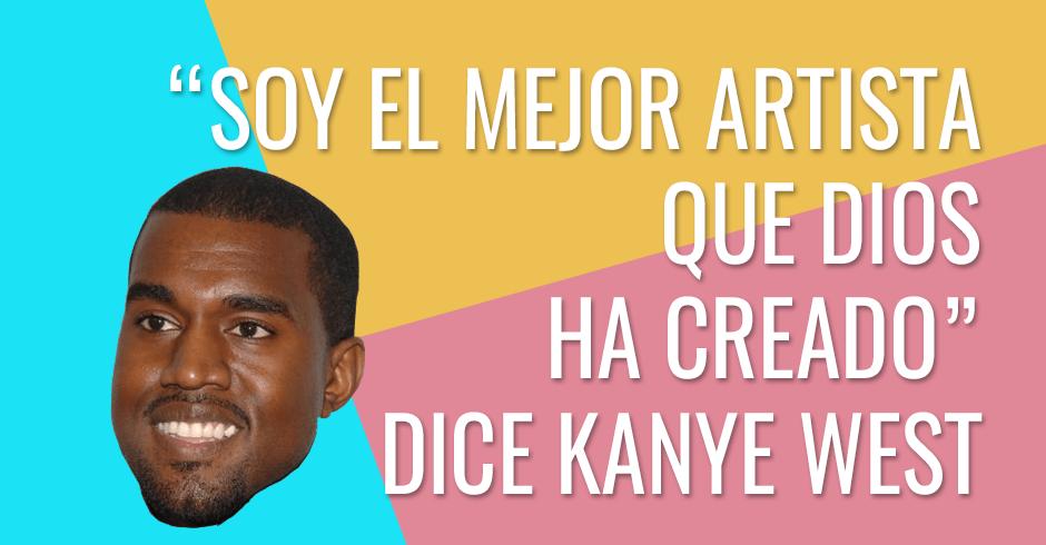 Kanye West dice ser el mejor artista que Dios ha creado