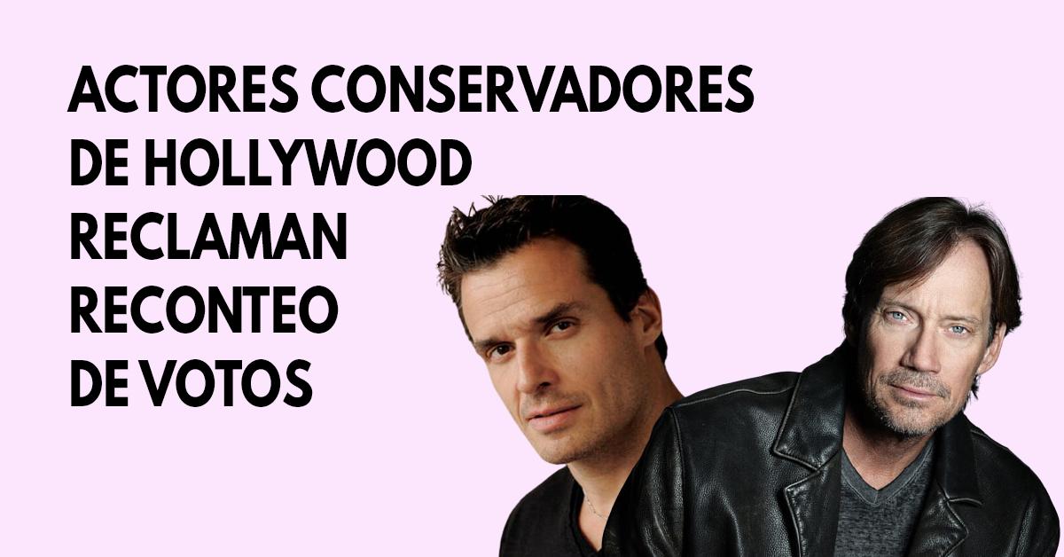 Actores conservadores de Hollywood reclaman reconteo de votos