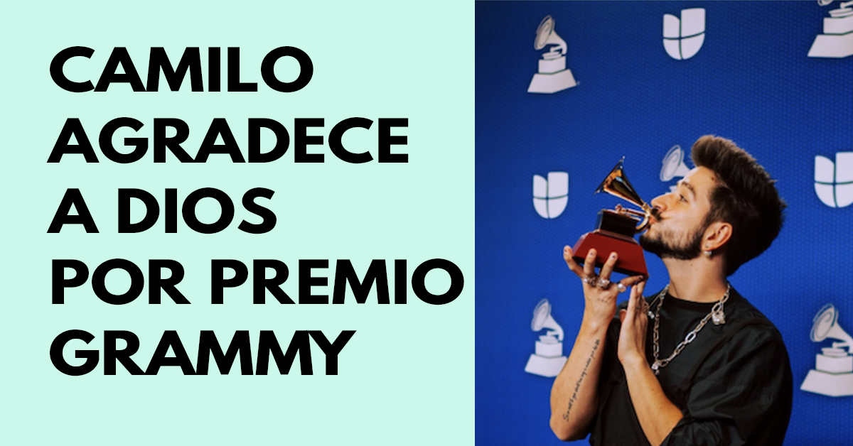 Camilo agradede a Dios por premio Grammy