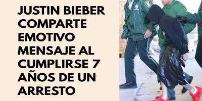 Justin Bieber comparte emotivo mensaje al cumplirse 7 años de un arresto