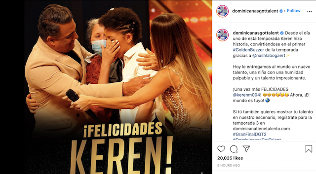 Keren Montero ganadora segunda temporada Dominianas got talent 2021