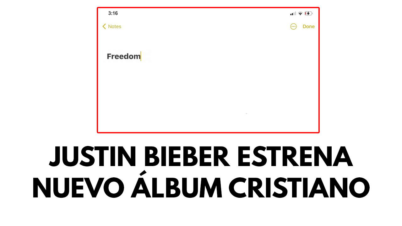 Justin Bieber estrena nuevo álbum cristiano