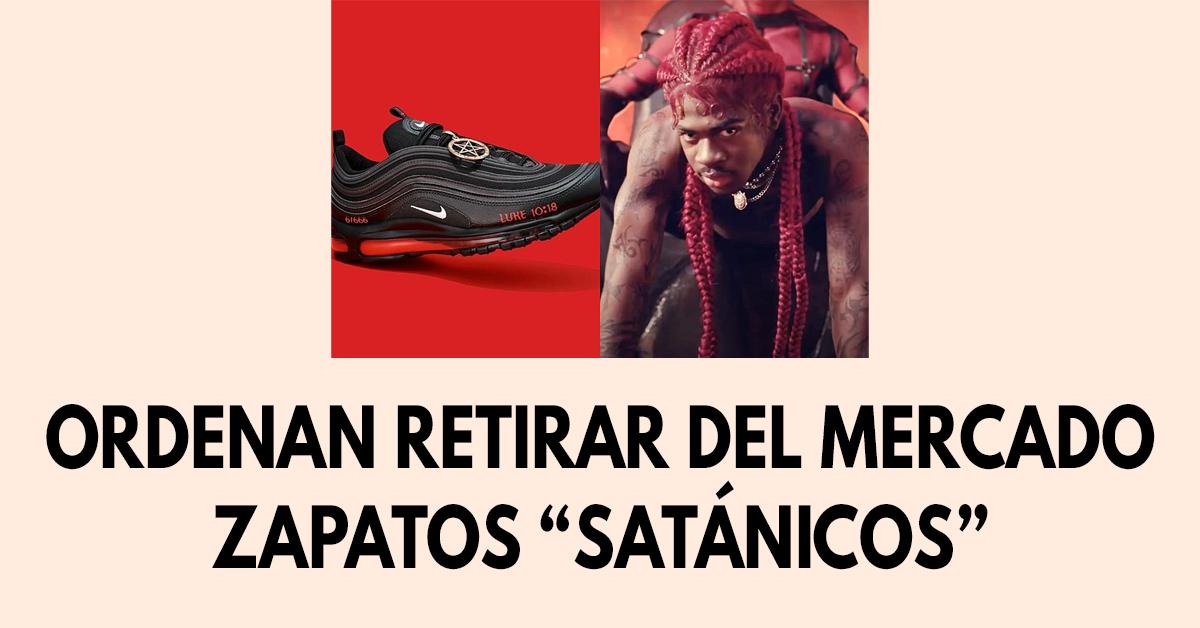 "Ordenan retirar del mercado zapatos ""satánicos"""