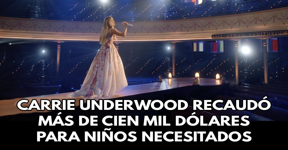 Cantante Cristiana Carrie Underwood recaudó más de cien mil dólares para niños necesitados en concierto de Pascua