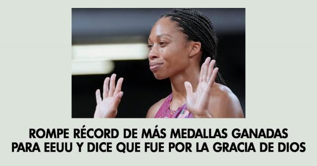 Rompe récord de más medallas ganadas para EEUU y dice que fue por la gracia de Dios