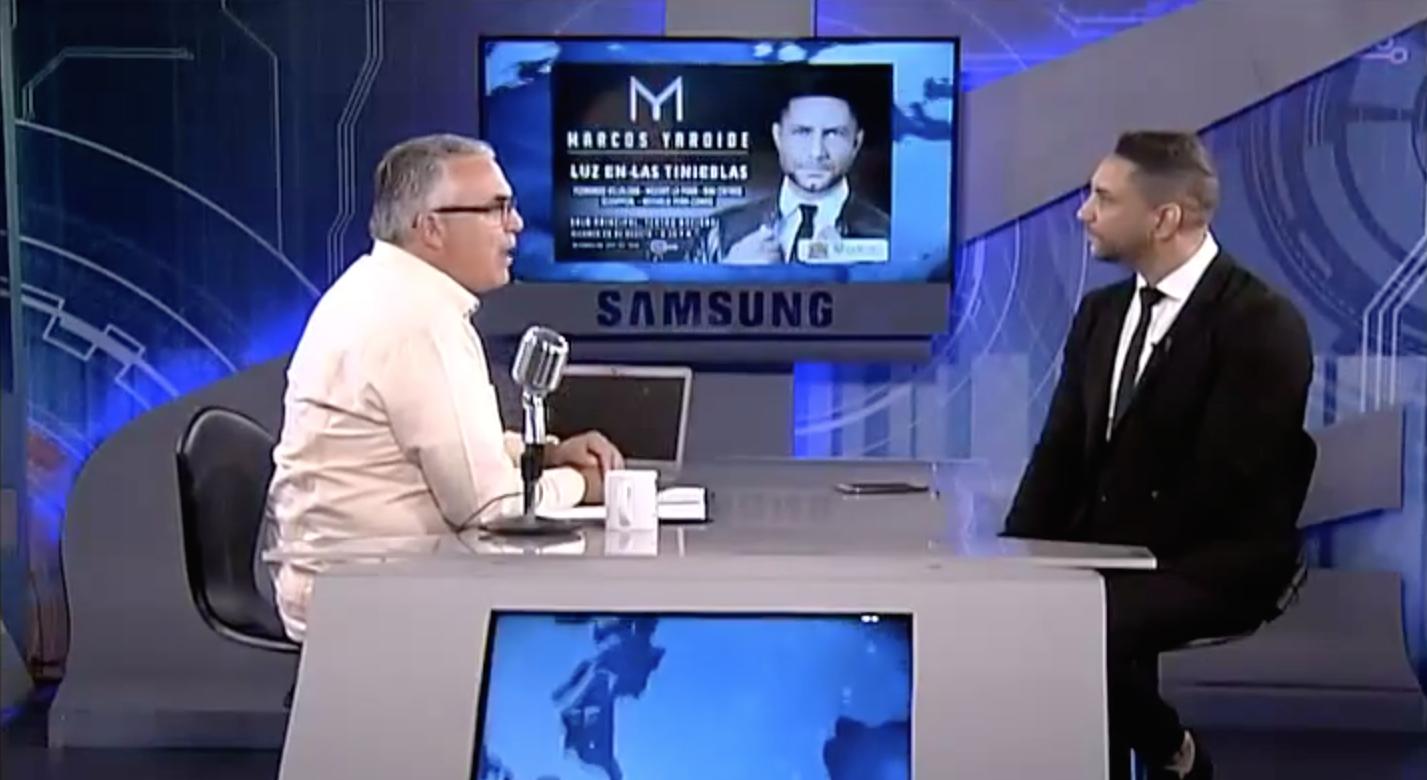 Marcos Yaroide con Roberto Cavada