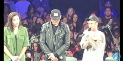 Justin Bieber predica en concierto