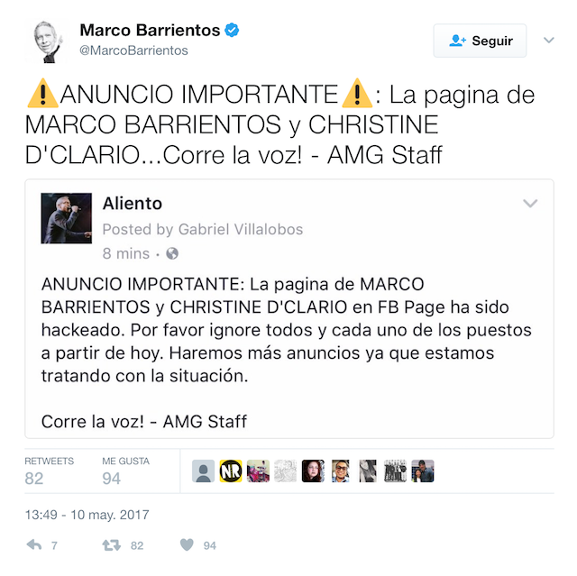 Marco Barrientos Hackeado