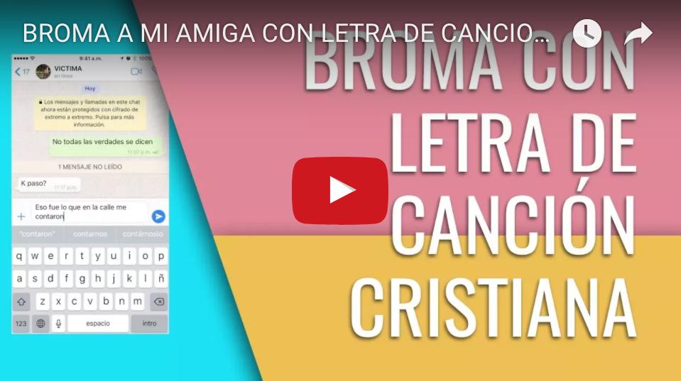BROMA A MI AMIGA CON LETRA DE CANCION CRISTIANA