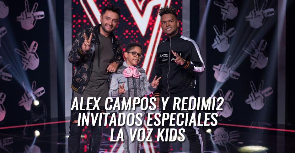 Alex Campos y Redim2 invitados especiales en la voz kids