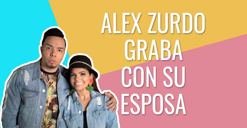 Alex Zurdo graba con su esposa