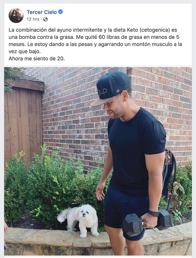 Juan Carlos Tercer Cielo ayuno intermitente dieta ejercicio ketos