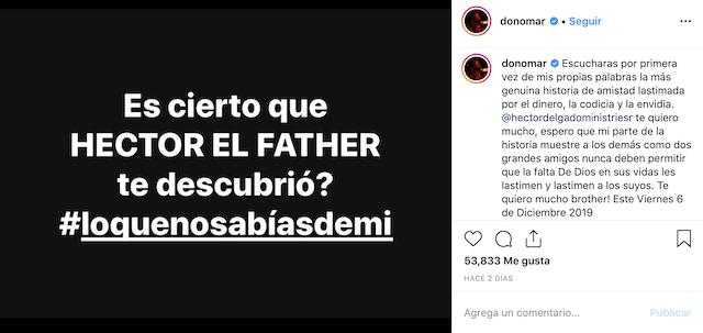 Don Omar es cierto que Hector el father te descubrio