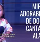 Mira esta adorable niña de dos años cantando la alabanza 10,000 reasons