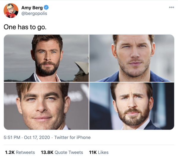 Amy Berg en Twitter - Elimina uno