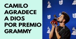 Camilo habla sobre Dios al recibir premio Grammy