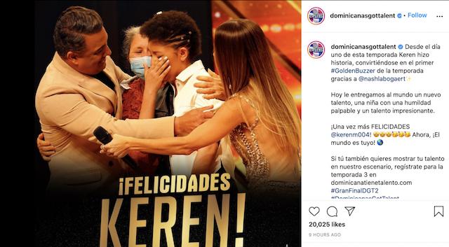 Keren Montero ganadora segunda temporada Dominianas got talent 2021