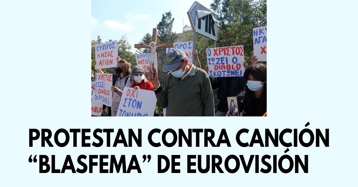 """Protestan contra canción """"blasfema"""" de Eurovisión"""