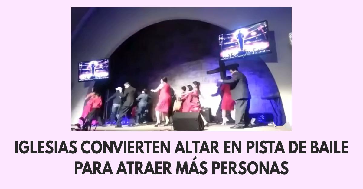 Iglesias convierten altar en pista de baile para atraer más personas